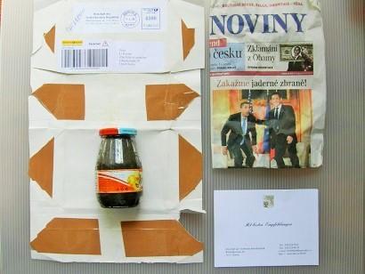 Das erste Päckchen kam aus Tschechien.