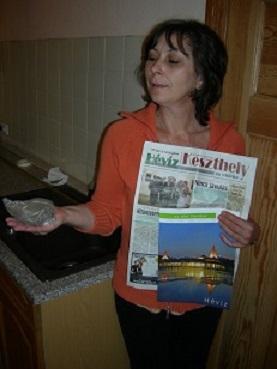 Erde und Zeitung aus Ungarn